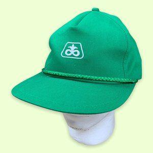 Green Logo Vintage Strapback Hat